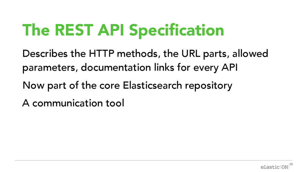 { } The REST API Specification Describes the HT...