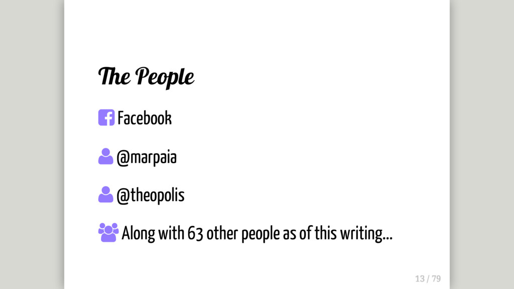 The People  Facebook  @marpaia  @theopolis ...