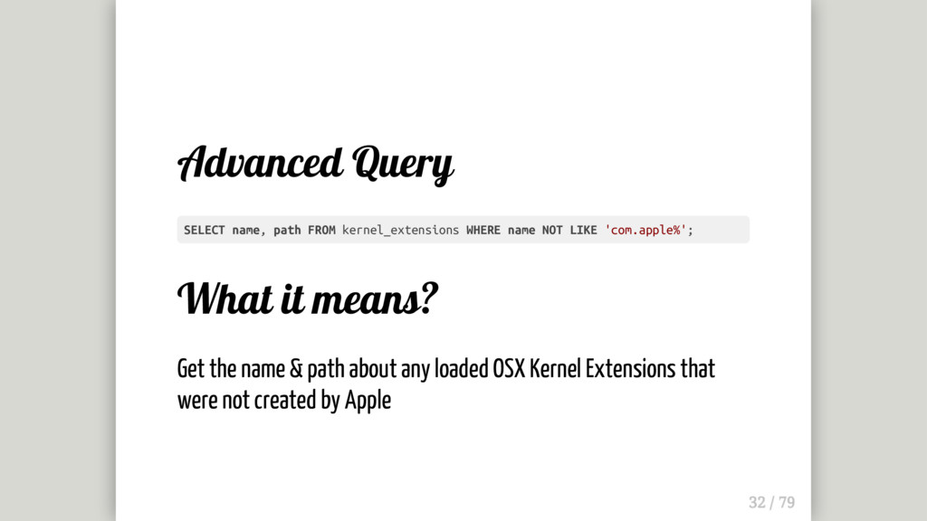 Advanced Query What it means? Get the name & pa...
