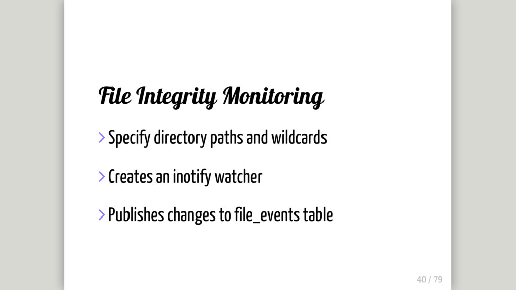 File Integrity Monitoring  Specify directory p...