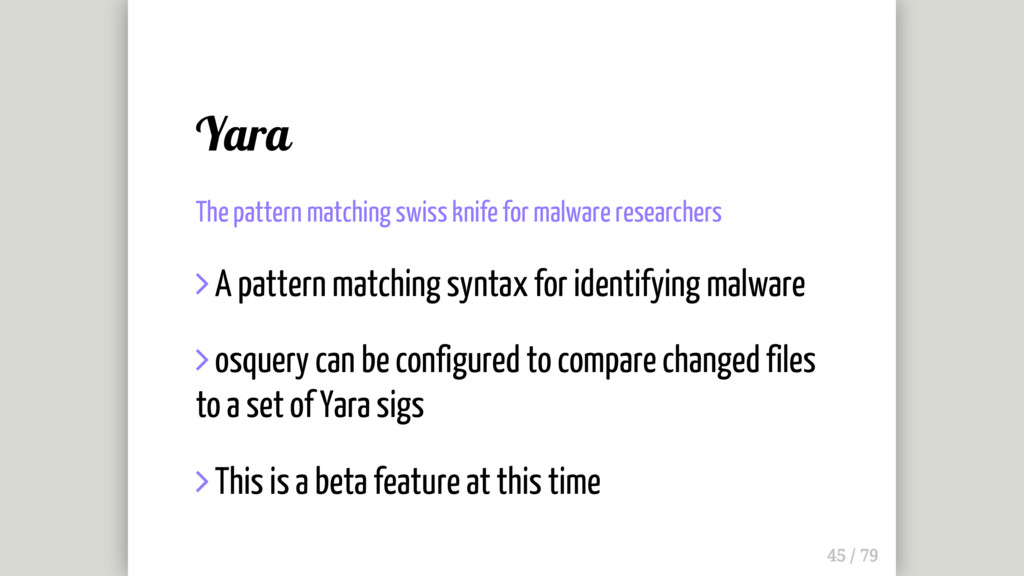 Yara The pattern matching swiss knife for malwa...
