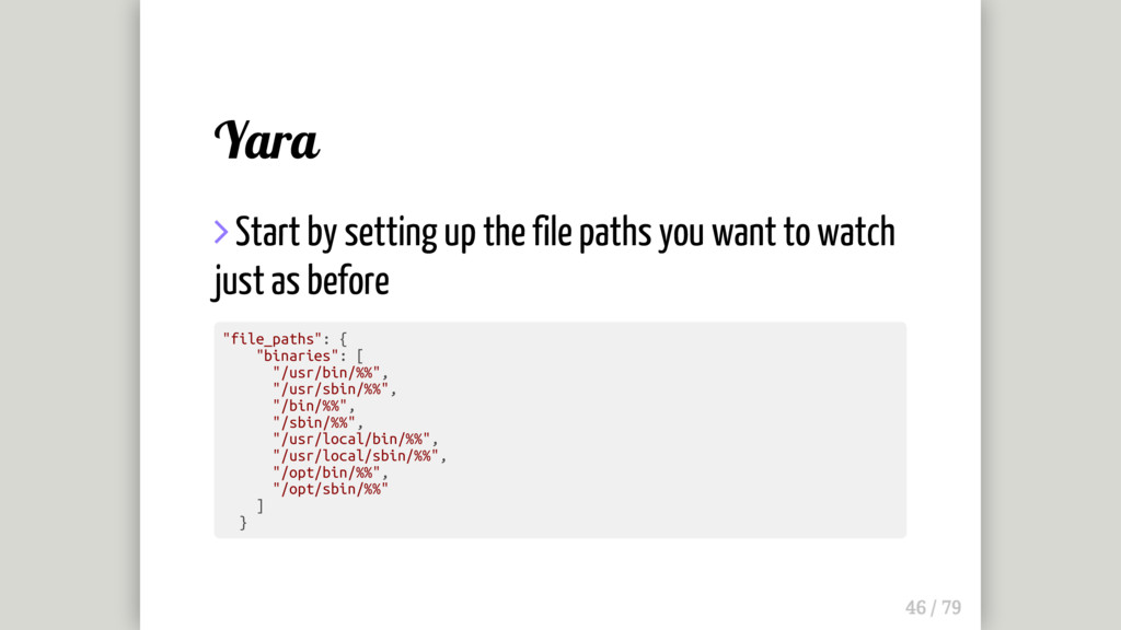 Yara  Start by setting up the file paths you w...
