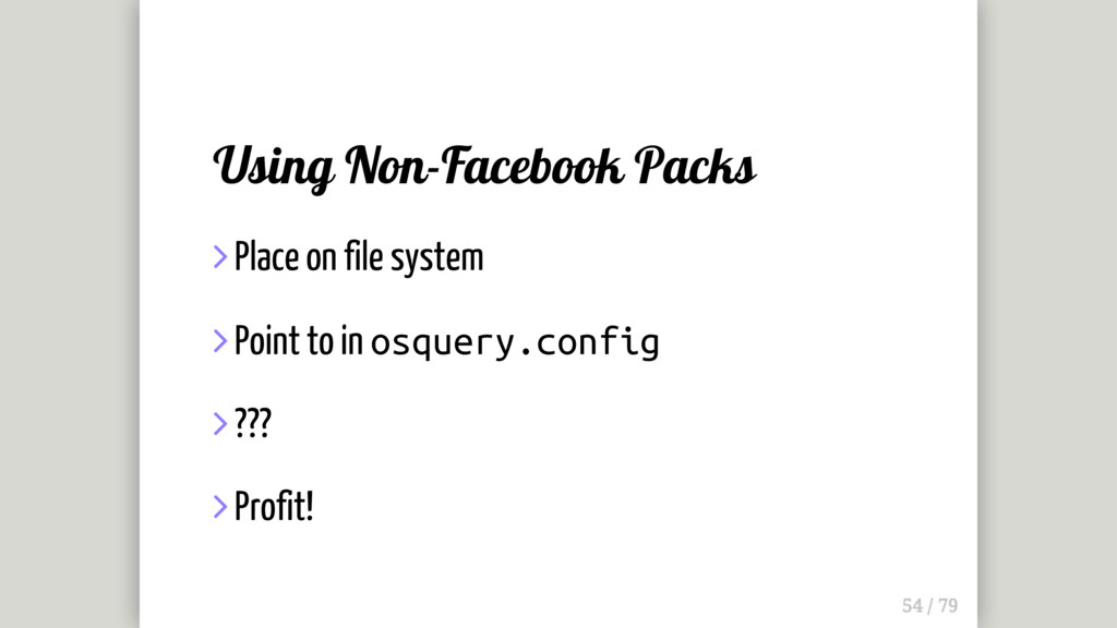 Using Non-Facebook Packs  Place on file system...