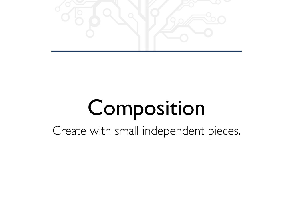 Composition Create with small independent piece...