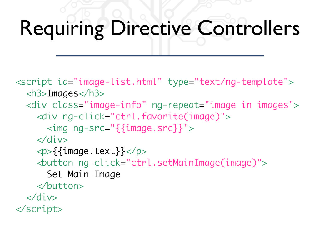 "Requiring Directive Controllers <script id=""ima..."