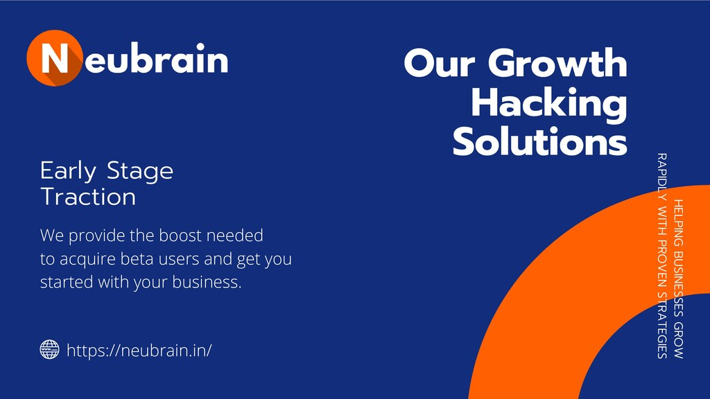 Our Growth Hacking Solutions   HELPING BUSINESS...
