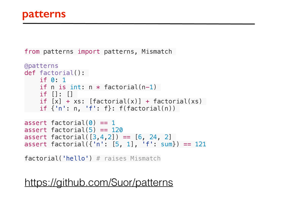 patterns from patterns import patterns, Mismatc...