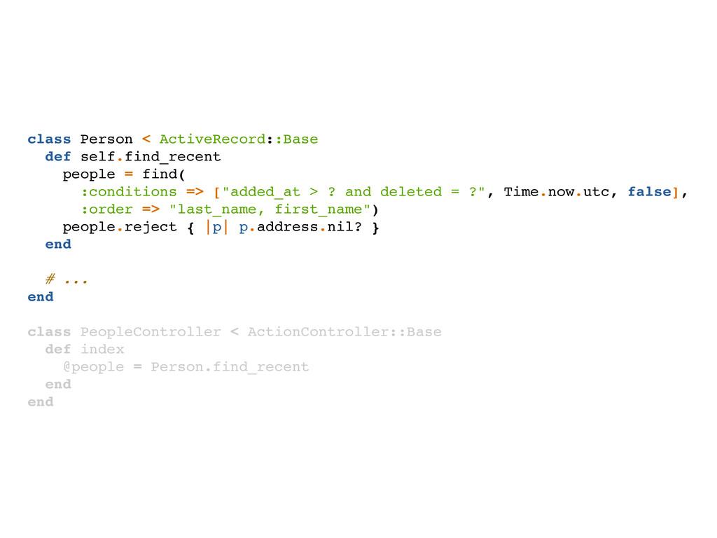 class Person < ActiveRecord::Base def self.find...