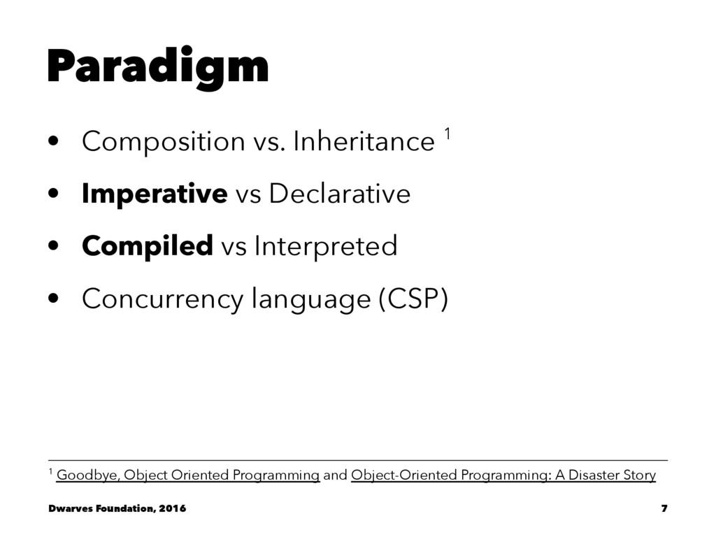 Paradigm • Composition vs. Inheritance 1 • Impe...