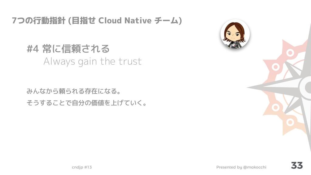 Presented by @makocchi cndjp #13 33 7つの行動指針 (目指...
