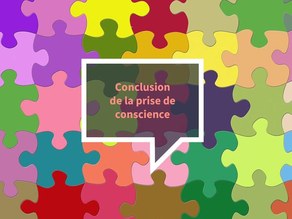 47 Conclusion de la prise de conscience