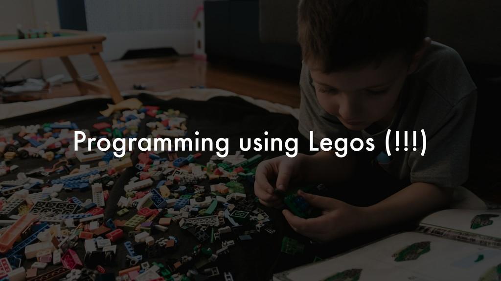 Programming using Legos (!!!)