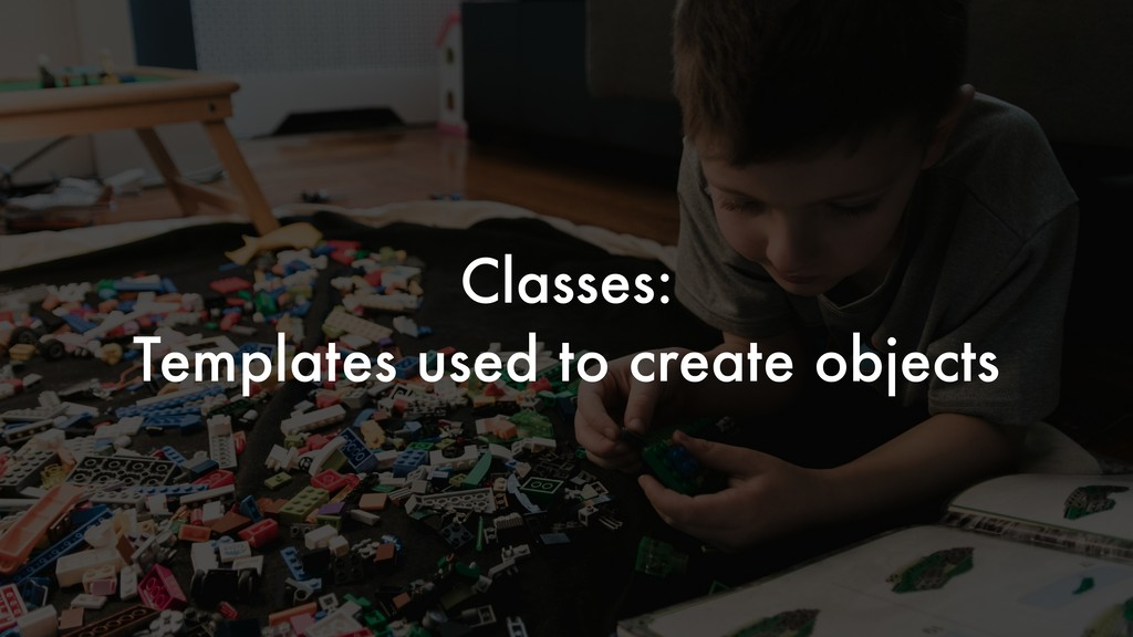 Classes: Templates used to create objects