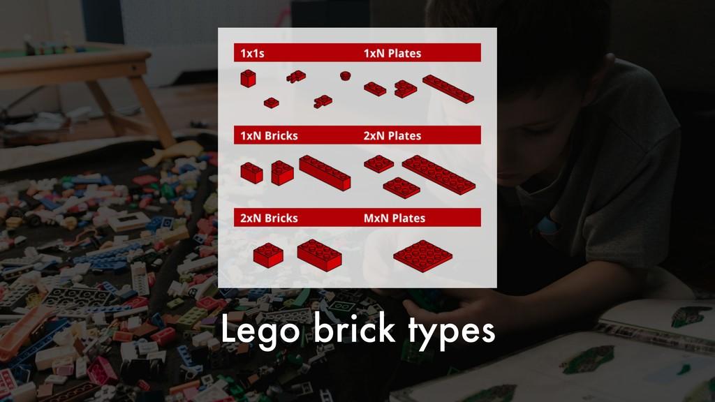 Lego brick types