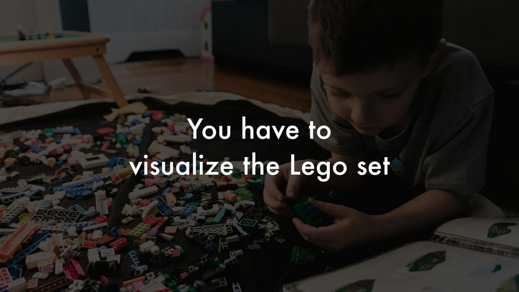 You have to visualize the Lego set