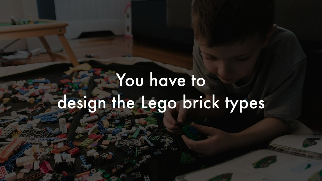You have to design the Lego brick types