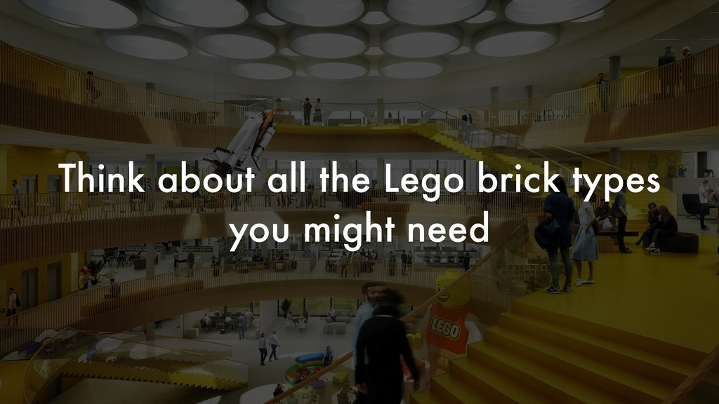 Think about all the Lego brick types you might ...