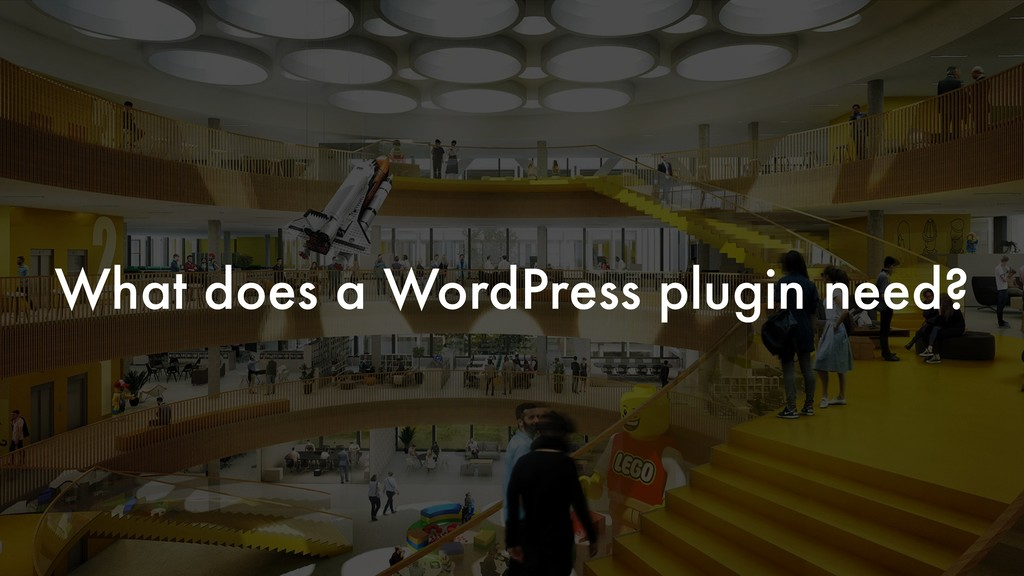 What does a WordPress plugin need?