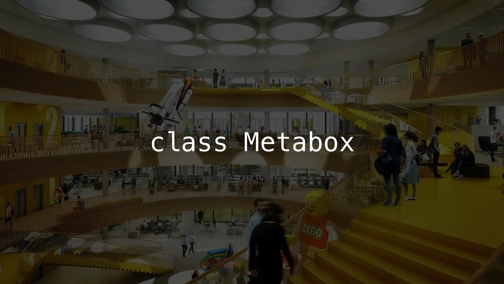 class Metabox