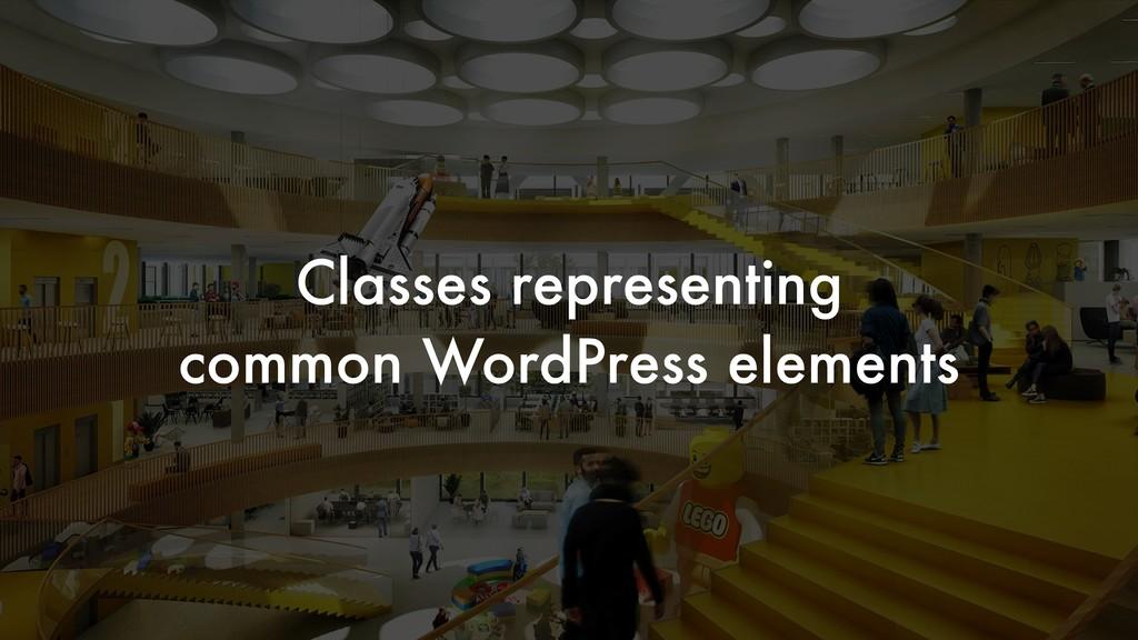 Classes representing common WordPress elements