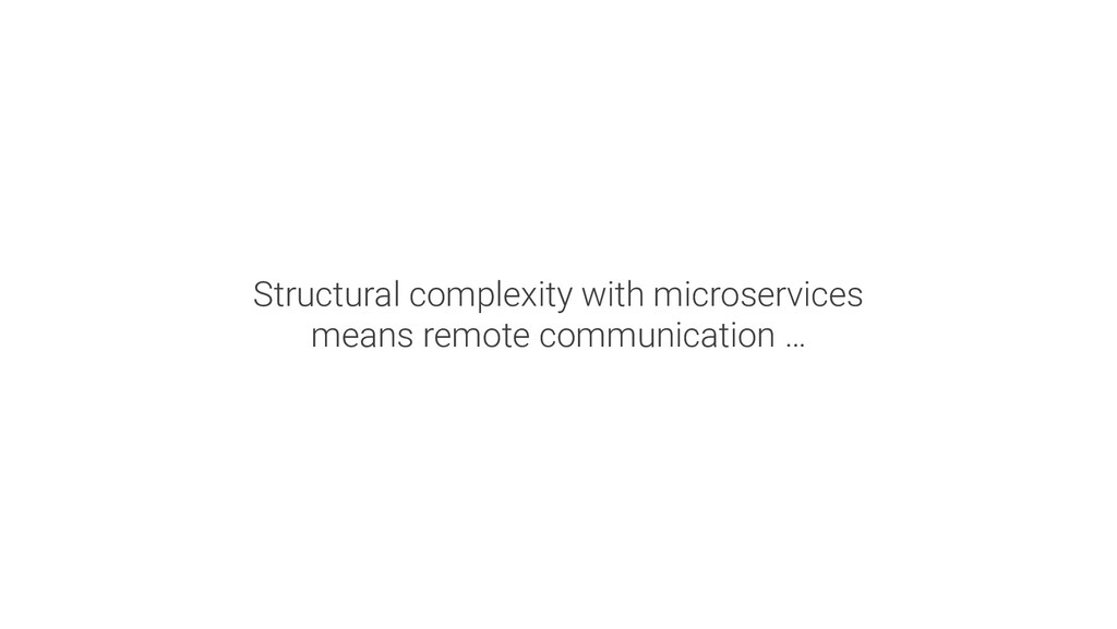 Structural complexity with microservices means ...