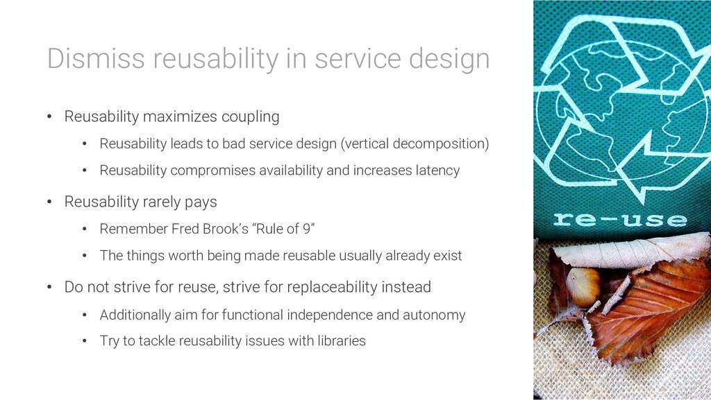 Dismiss reusability in service design • Reusabi...