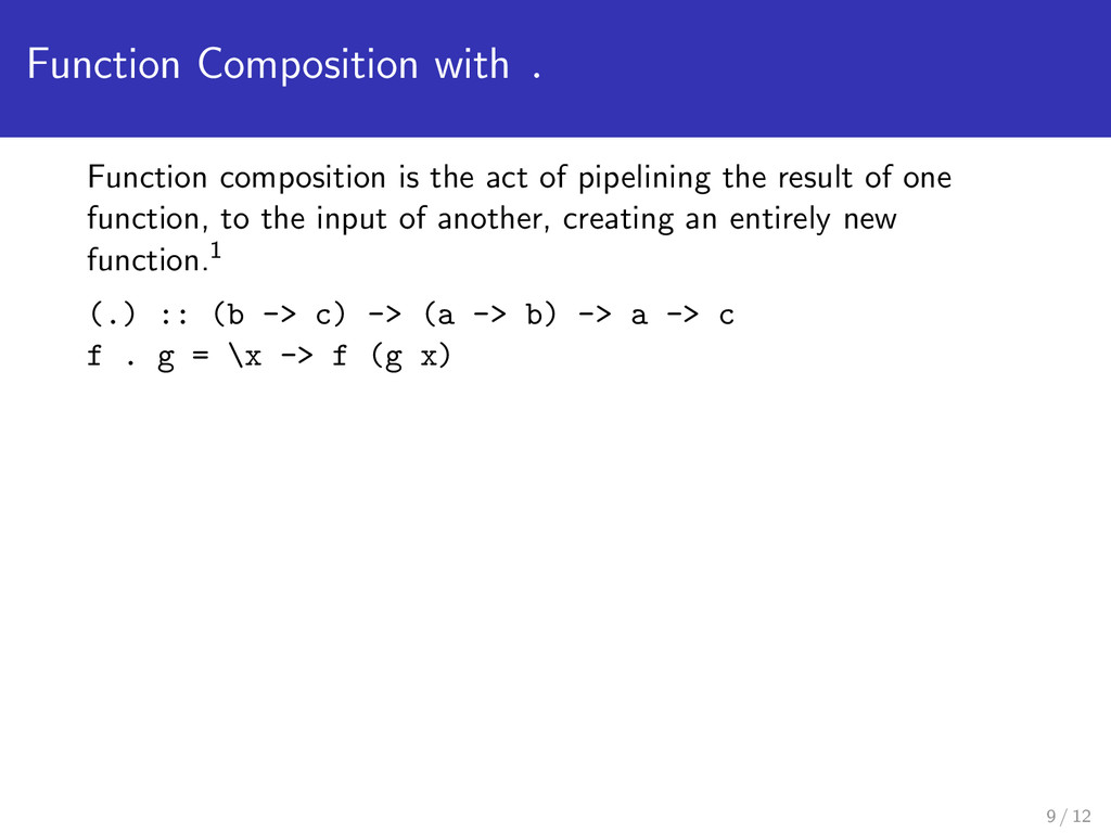 Function Composition with . Function compositio...
