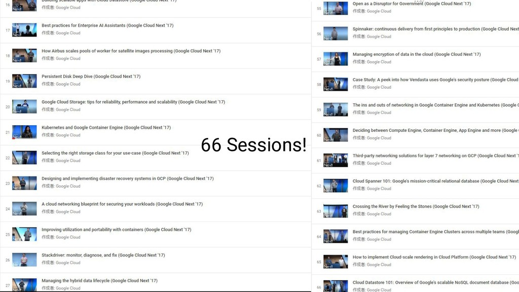 66 Sessions!