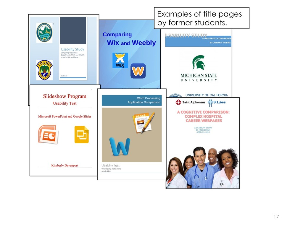 17 Comparing Wix and Weebly A Cognitive Walkthr...