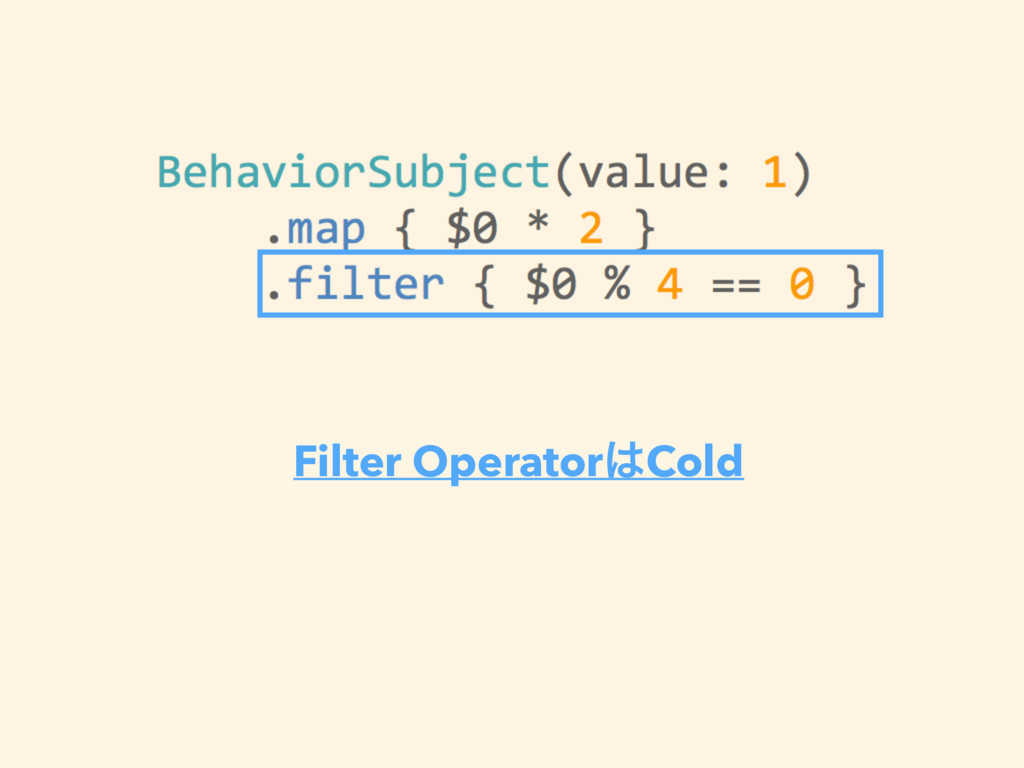 Filter Operator͸Cold