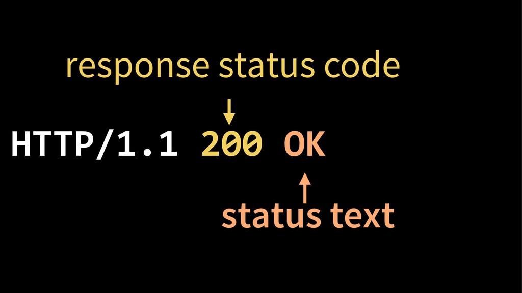 HTTP/1.1 200 OK response status code status text