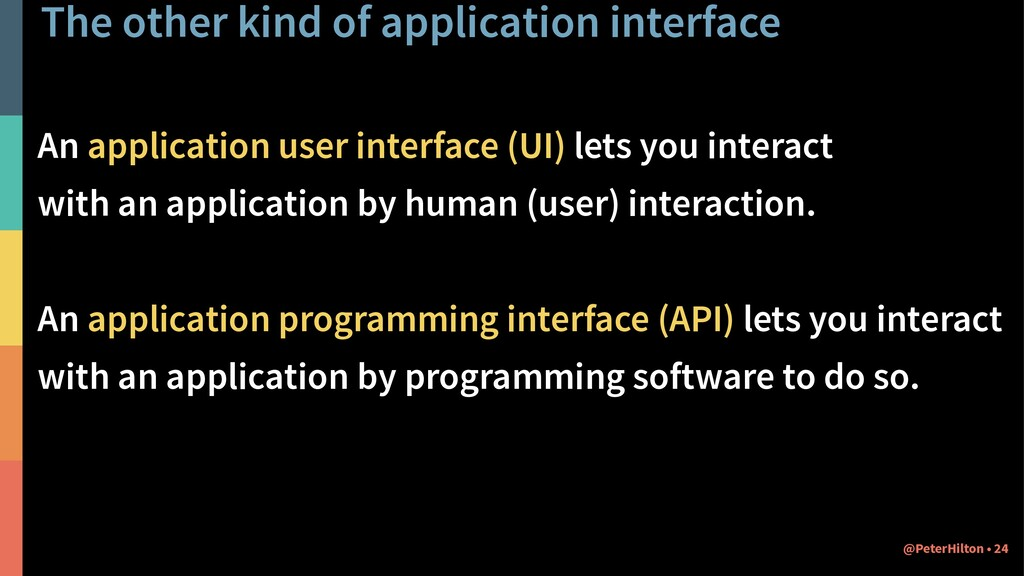 The other kind of application interface An appl...