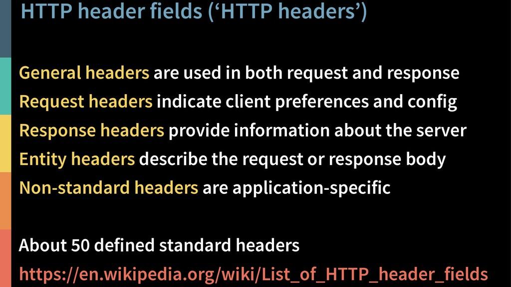 HTTP header fields ('HTTP headers') 29 @PeterHi...