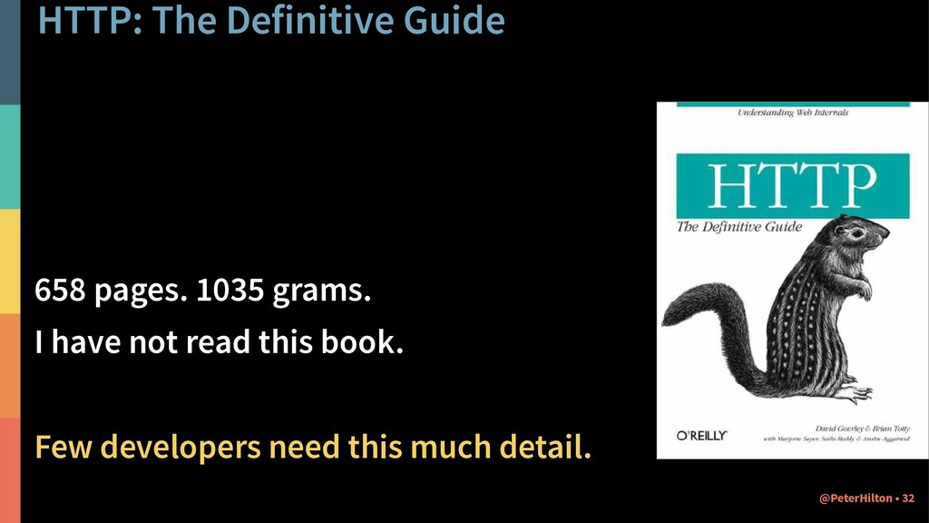 HTTP: The Definitive Guide 658 pages. 1035 gram...