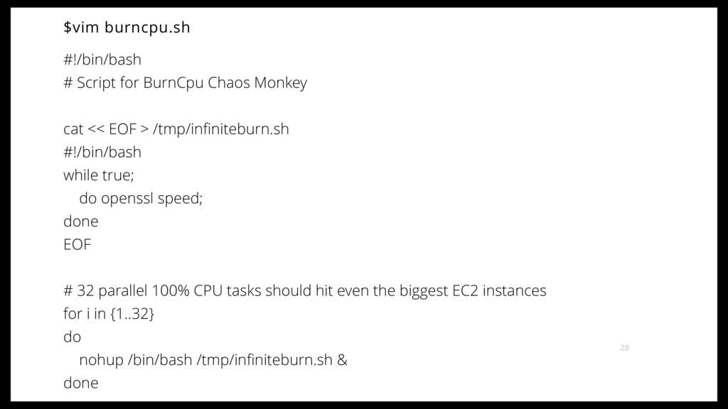 $vim burncpu.sh #!/bin/bash # Script for BurnCp...