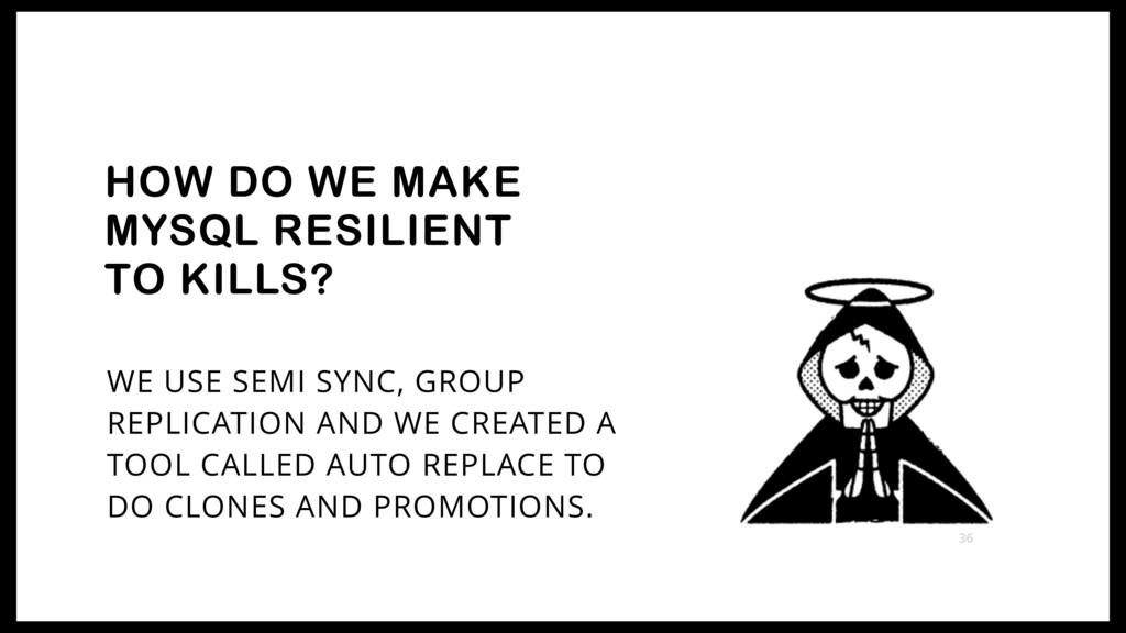 WE USE SEMI SYNC, GROUP REPLICATION AND WE CREA...