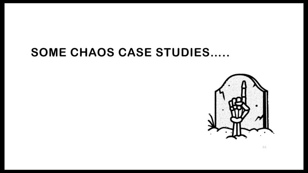 SOME CHAOS CASE STUDIES….. 44