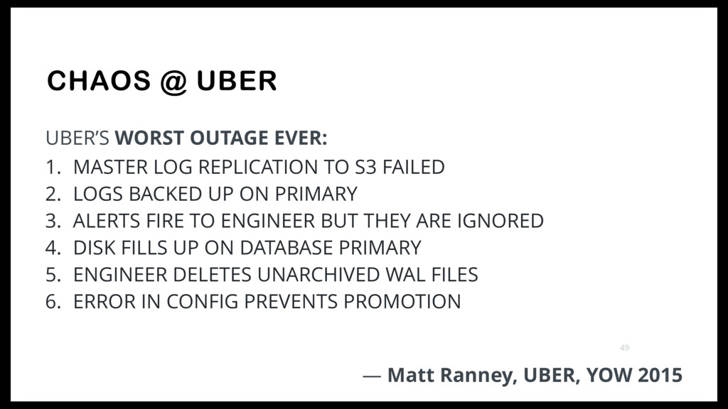 CHAOS @ UBER UBER'S WORST OUTAGE EVER: 1. MASTE...