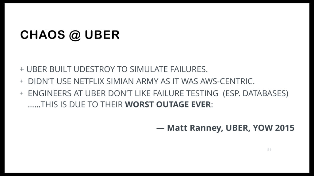 CHAOS @ UBER + UBER BUILT UDESTROY TO SIMULATE ...