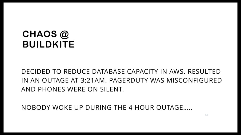 DECIDED TO REDUCE DATABASE CAPACITY IN AWS. RES...