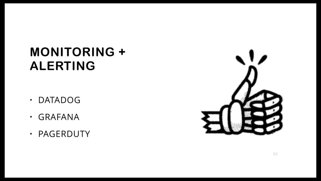 • DATADOG • GRAFANA • PAGERDUTY MONITORING + AL...