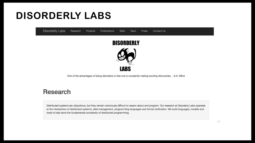 DISORDERLY LABS 93