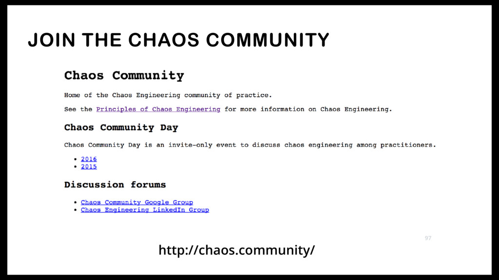 JOIN THE CHAOS COMMUNITY 97 http://chaos.commun...