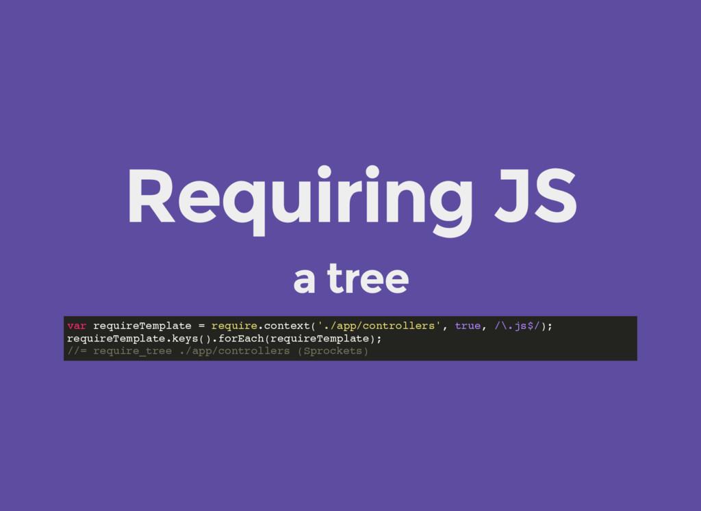 Requiring JS a tree var requireTemplate = requi...