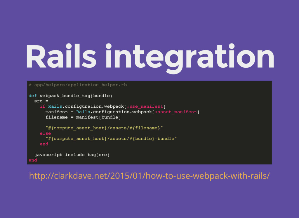 Rails integration # app/helpers/application_hel...