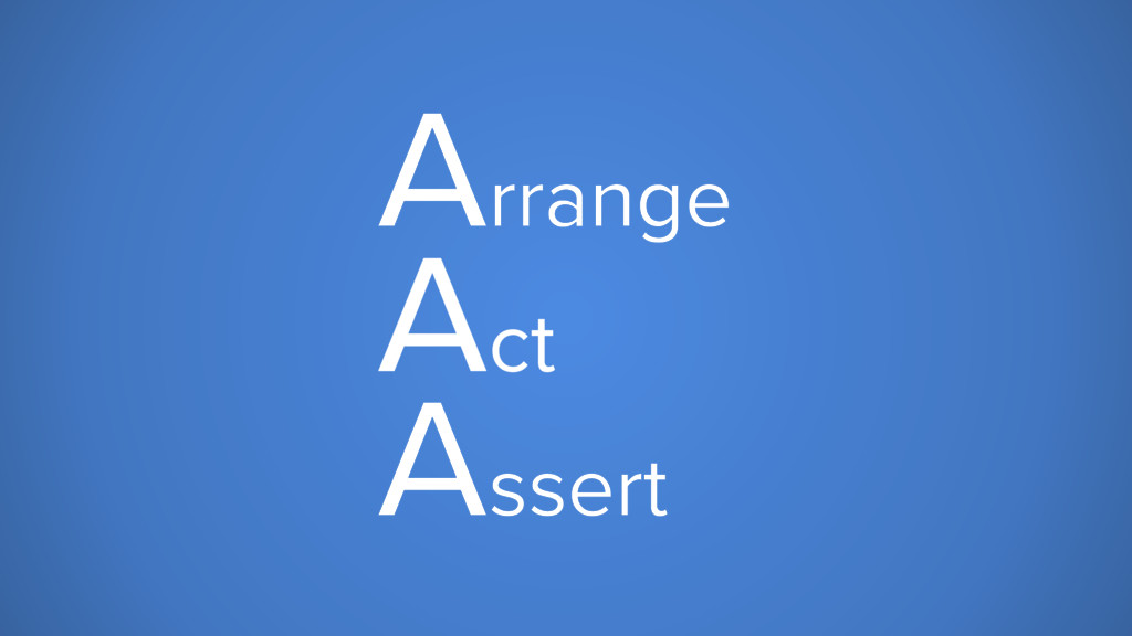 Arrange Act Assert