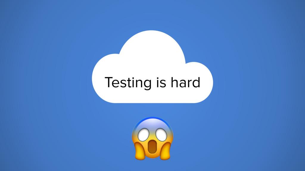Testing is hard