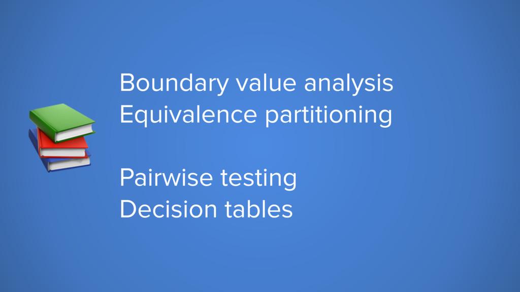 Boundary value analysis Equivalence partitioni...