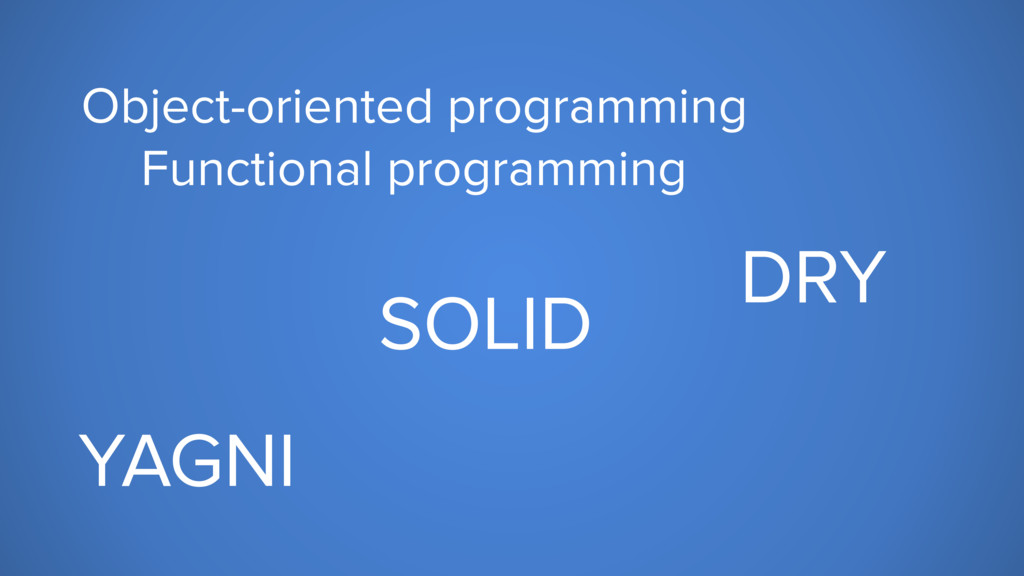 Object-oriented programming Functional programm...