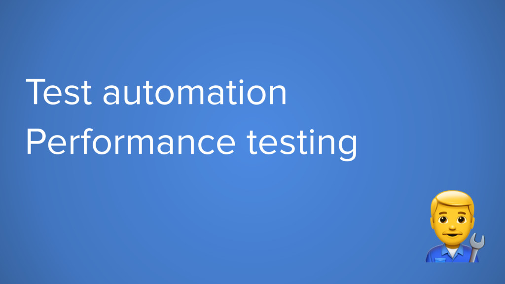 """Test automation Performance testing """""""